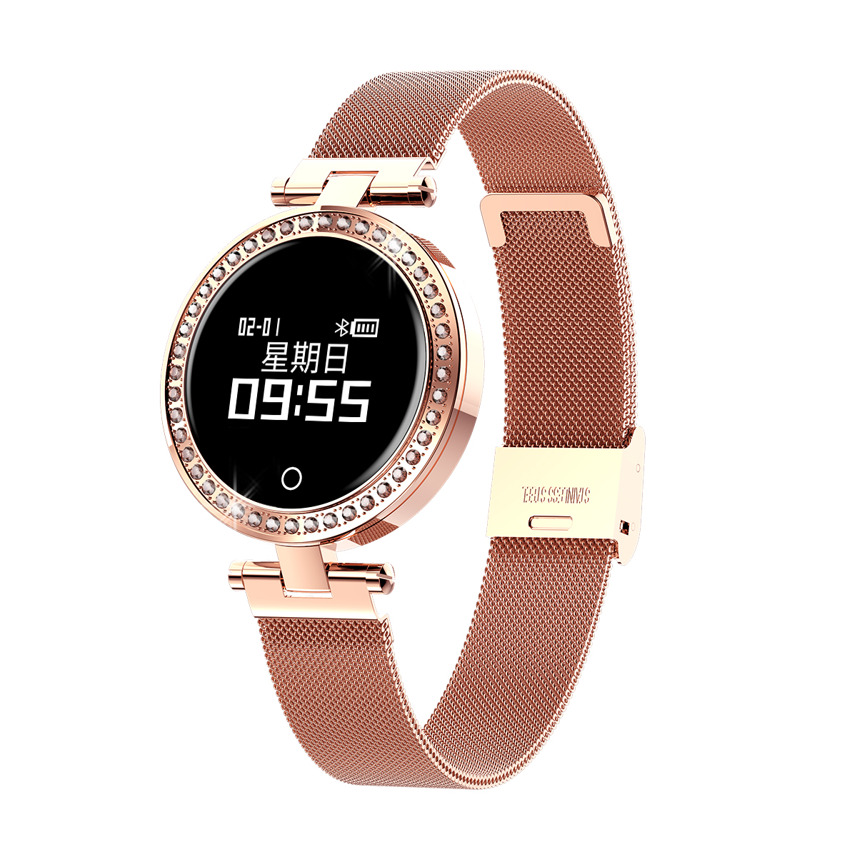 <strong>X10</strong> Ladies Smart Watch Round For Women IP68 Heart Rate Blood Pressure Monitor Message Call Reminder Pedometer Calorie Smartwatch