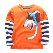 autumn winter new design kids T-shirt foreign trade boys long sleeve cotton T-shirt