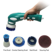 4 in 1 scrub brush, handheld and rechargeable electric rotating scrubbing cleaning brush for home kitchen and bathroom cleaning