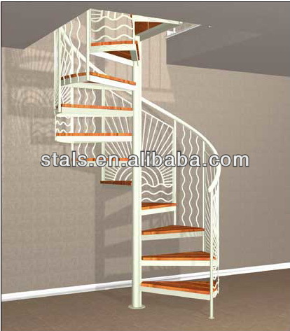 Attractive Iron Staircase Residential Stairs Round Stairs   Buy Stairs For  Villa,Curved Staircase,Fancy Iron Stairs Product On Alibaba.com