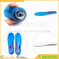 1 Pair of Silicone Shoes Cuttable Size Insoles Shoe Inserts Shock Absorption Wearproof Soft Curves Sports Insoles