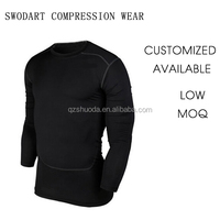 2016 swodart compression long sleeve sports wear winter training wear runing suit top wear OEM customized design