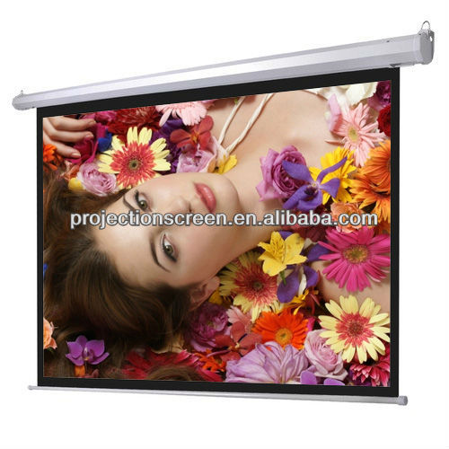Front office equipment for motorised screen with glass beaded