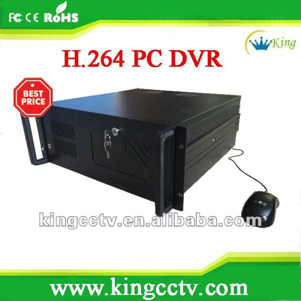 High quality PC Based DVR HK-DVR 204H 208H 216H 232H 264H 4 8 16 32 64 ch dvr system