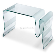 bent glass coffee table,modern coffee table