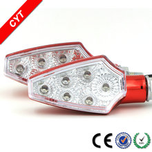 High quality Waterproof 5050 SMD 3W 12V 6 LEDs 1500K Yellow Motorcycle LED Turn signal light