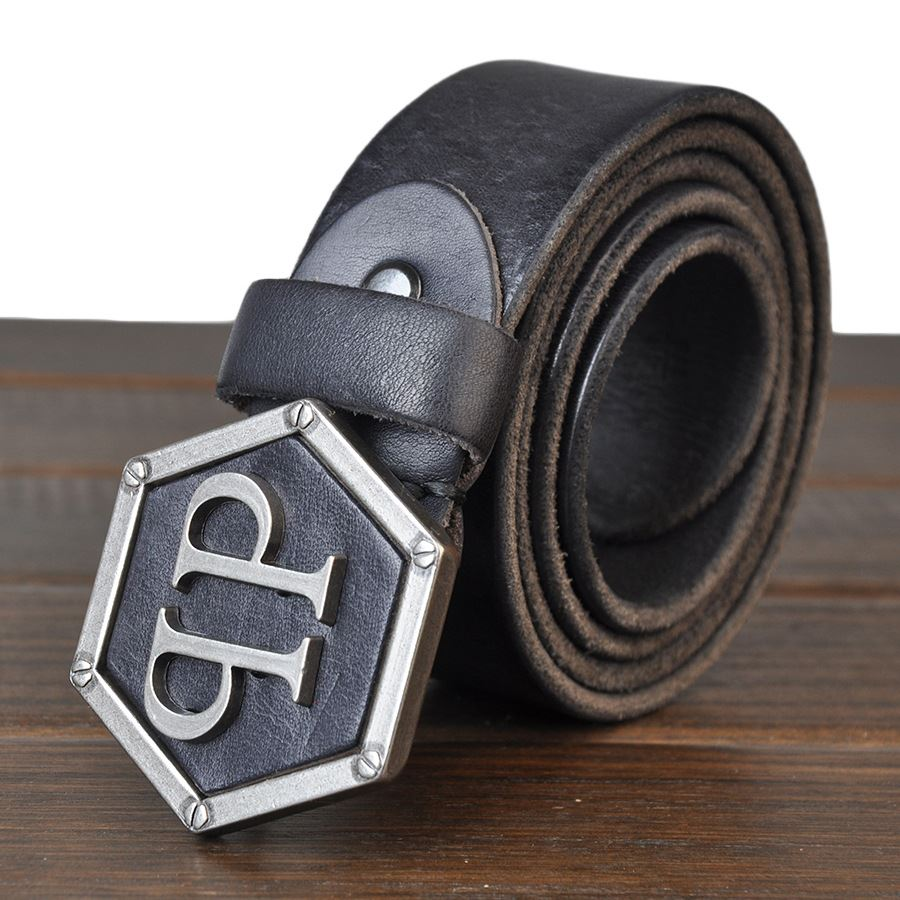 Men 's new men' s belt leather belts retro men 's belt