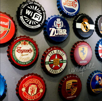 new design metal embossing paintings on Beer cap