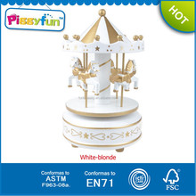High Quality Handmade Wedding Favors Wooden Carousel,Wooden Toy Carousel For Children,Wholesale Music Box Carousel AT11747