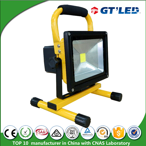 Portable Outdoor Lamp Flood Light IP65 Rated Small Battery Operated LED Light