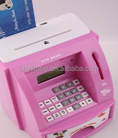 ATM machine bank atm coin box for kids piggy bank in low price cardboard boxes for packaging