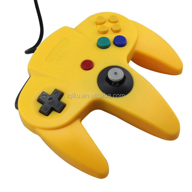 Factory Price Yellow Color USB Game Wired Controller Joypad Joystick Gamepad For N64 Game System