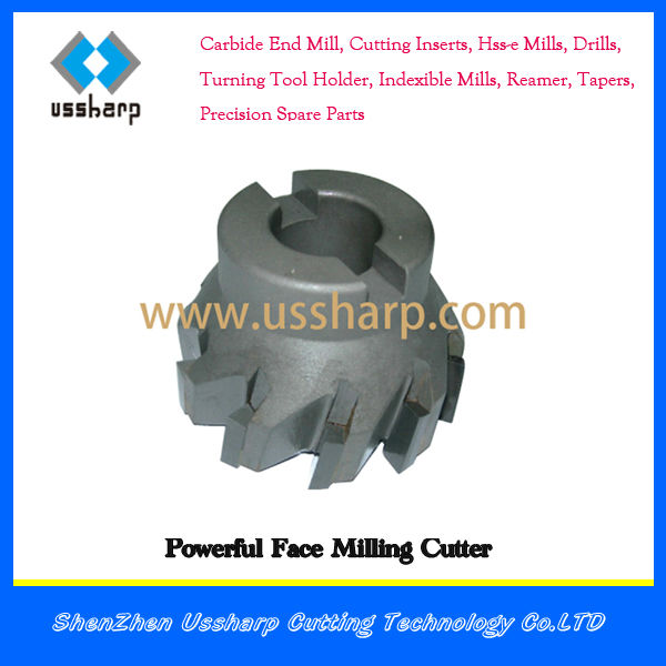 powerful facemills brazed balde for milling steel made in China