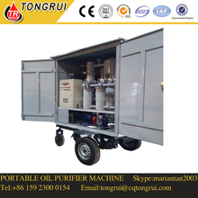 Movable type Vacuum transformer oil Centrifugal purification machine