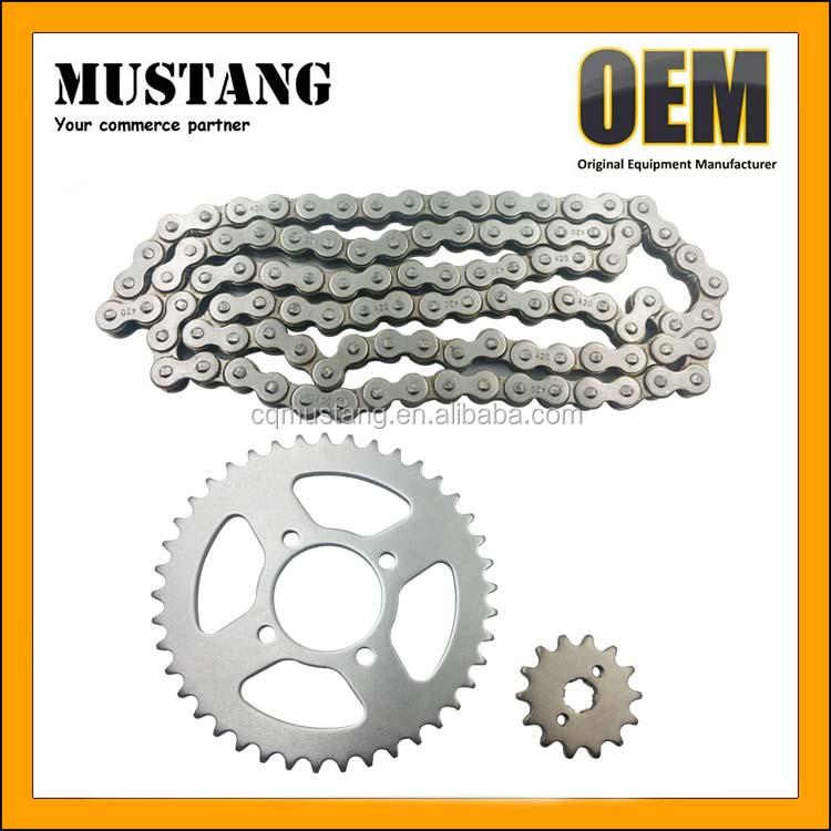 China OEM manufacturer Motorcycle chain sprocket 420-104L for Honda CD70