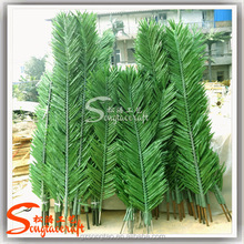 Wholesale artifiicial palm tree leaves landscaping plastic artificial palm tree leaves
