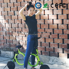 2016 new electric folding bicycle for adults with lithium battery