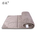 New design outdoor Khaki color suede fabric folding cot mattress