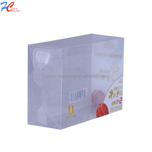 Customized Logo Transparent Retail Side Clear PVC Packing Plastic Box for food and vegetable Products