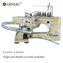 Electric direct drive 4 needle 6 thread sewing machine