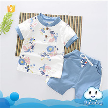 SS-822B hot selling korean kids clothes wholesale baby cotton frocks designs European boys suits
