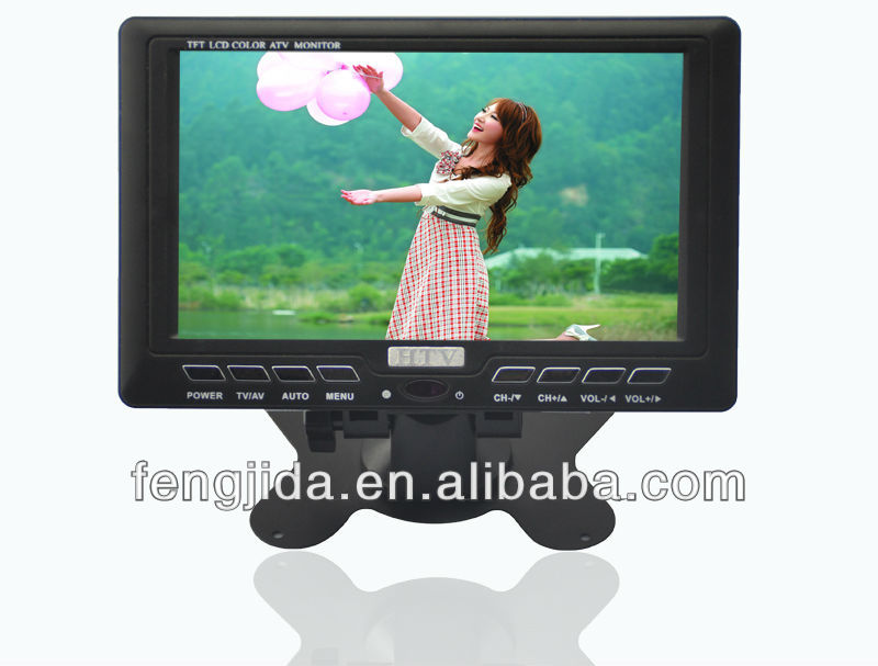 "7"" Portable hd led lcd DVB-T digital tv/USB port/rechargeable battery"