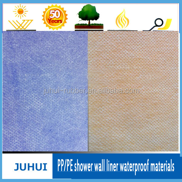 0.5mm Pp/pe Shower Wall Liner Waterproof Membrane /waterproof materials
