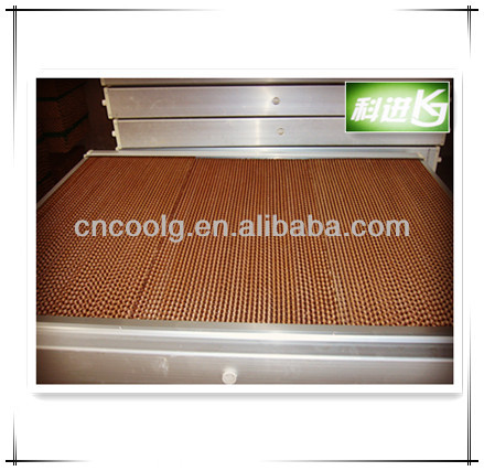 honey comb aluminium frame evaporative kraft paper wet curtain