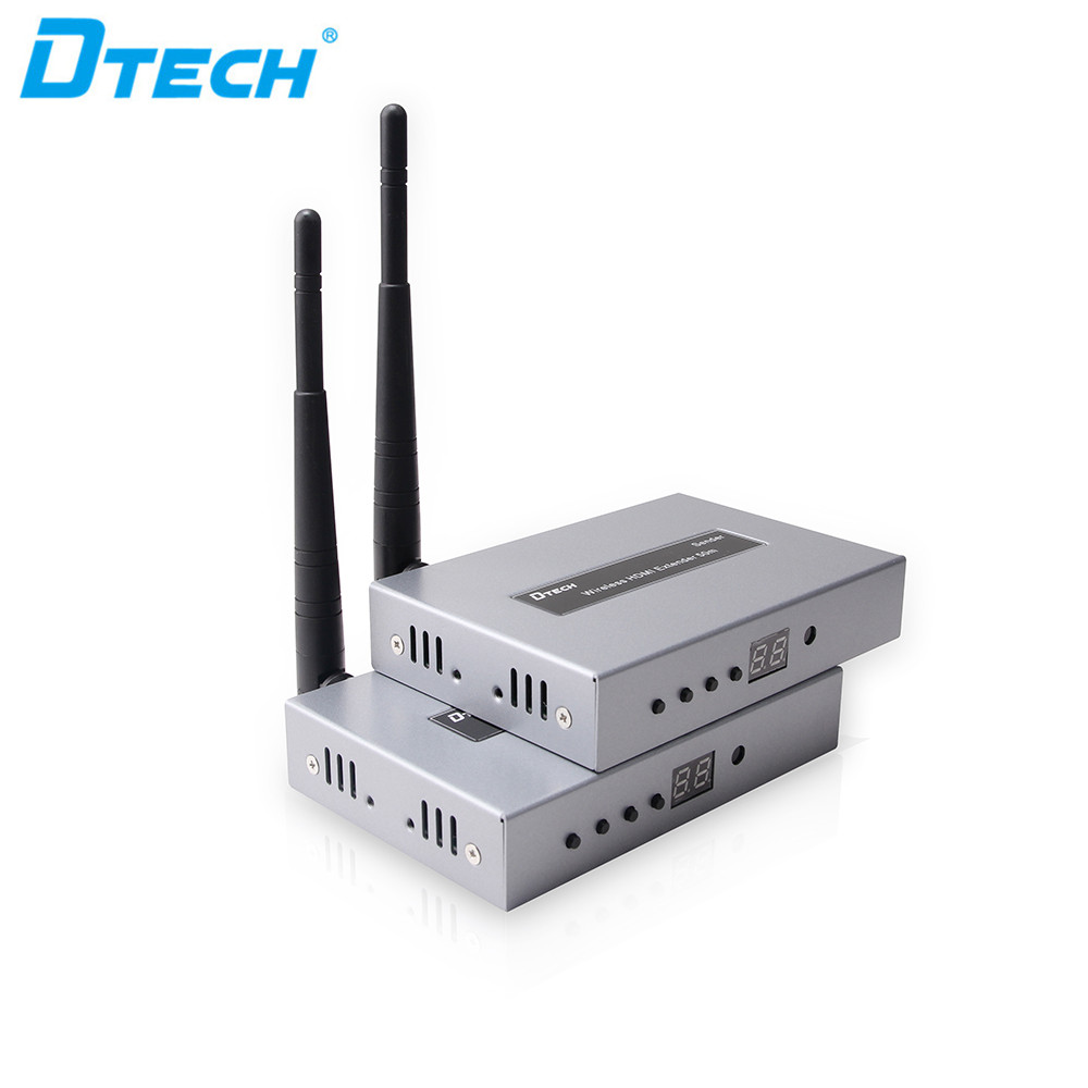 Guangzhou NEW HDCP1.2 resolution 1920*1080 HDMI1.3 H2.64 Wireless hdmi sender receiver 50m Extender