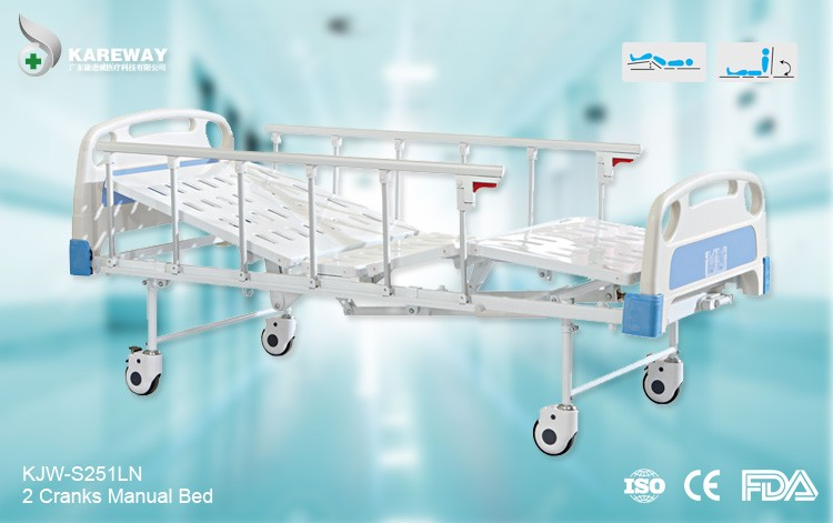 Two cranks health care single nursing emergency bed