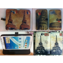 Tower of Pisa Italy Minion Case For Samsung Galaxy Note 2, Leather Wallet Case For Samsung Galaxy Note 2 N7100