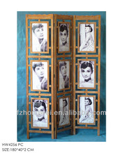 Shabby Chic Home Decorative Antique Wooden Room Divider/Room Screens with Photos