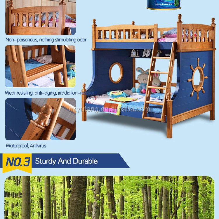 new solid pine children bunk bed furniture design