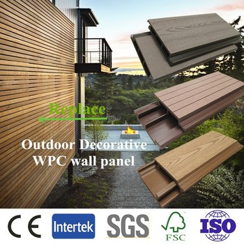 10years factory price , outdoor material water proof wpc wall cladding