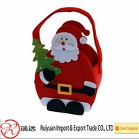 2016 best selling high quality felt Christmas basket for promotional gifts
