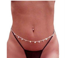 Godbead Silver sep Filagree Butterfly Back Belly Waist Chain