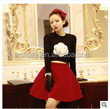 C63267A 2014 autumn design fashion korean casual skirt suits for ladies