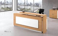 Modern Office Furniture Wooden Office Counter Design