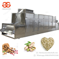 High Efficiency Continuous Peanut Groundnut Cocoa Beans Roaster Equipment Sesame Sunflower Seeds Cashew Nut Roasting Machine