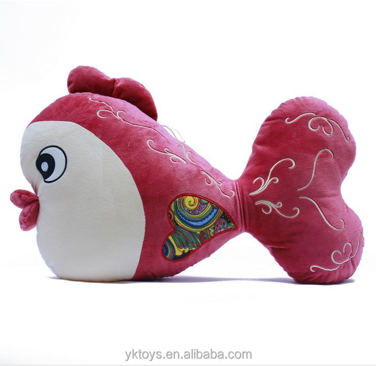 Newest design soft plush stuffed animal doll plush goldfish