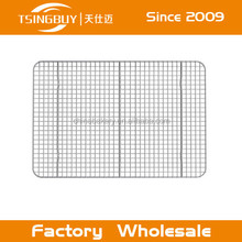 Wholesale stainless steel cross-wire gride cooling rack/wire pan grate baking net/cooling trays with feet