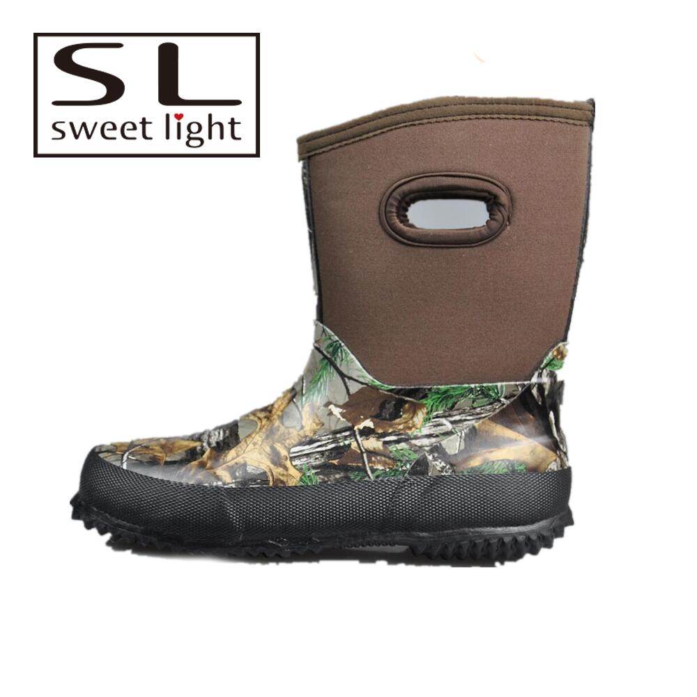 Hunting fishing waterproof boots camo neoprene boots for men