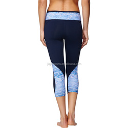 factory custom sublimated polyester/spandex leggings for women gym fitness