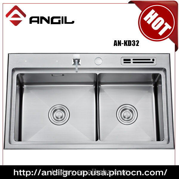 AN-KD32 High Quality for Stainless Steel Kitchen Handmade Double Sink