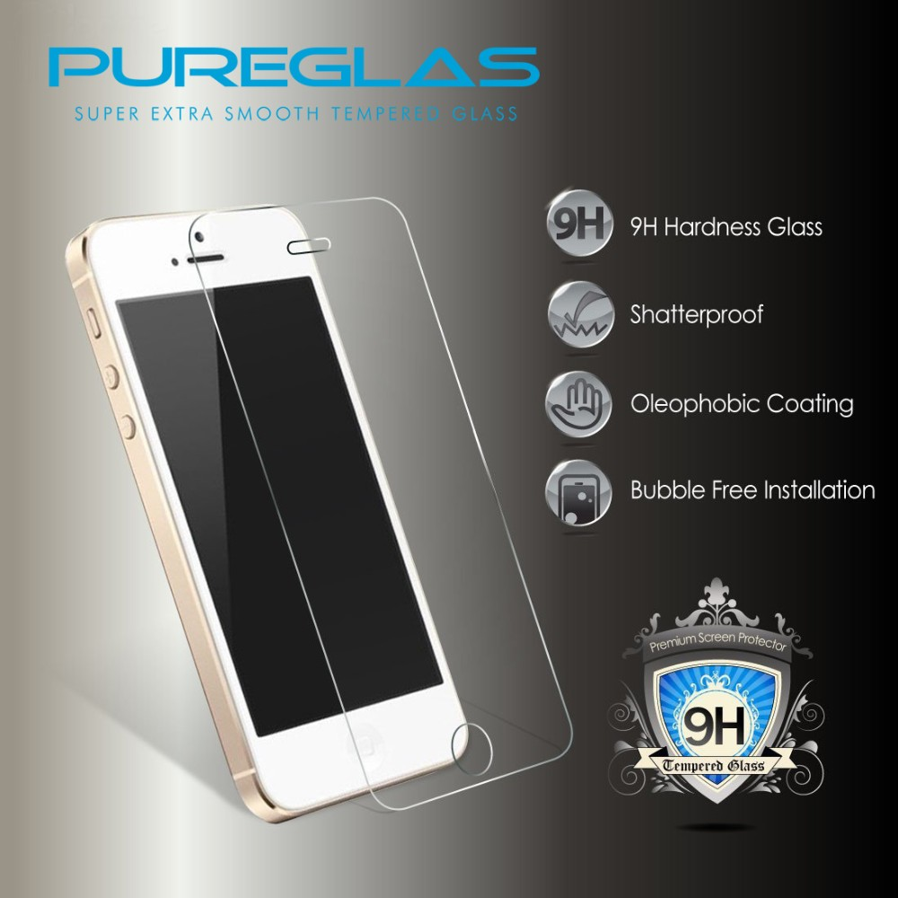 0.2mm Anti-Fingerprint Matte Premium cell phone protective film mobile phone Tempered Glass screen protector for iPhone 5 5C 5SE