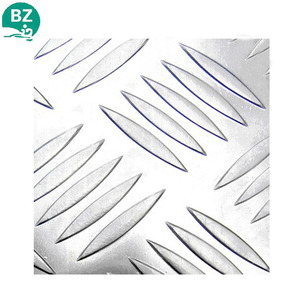 2017 Factory aluminum tread plate 5 bar alloy aluminum chequer plate embossed Sheet