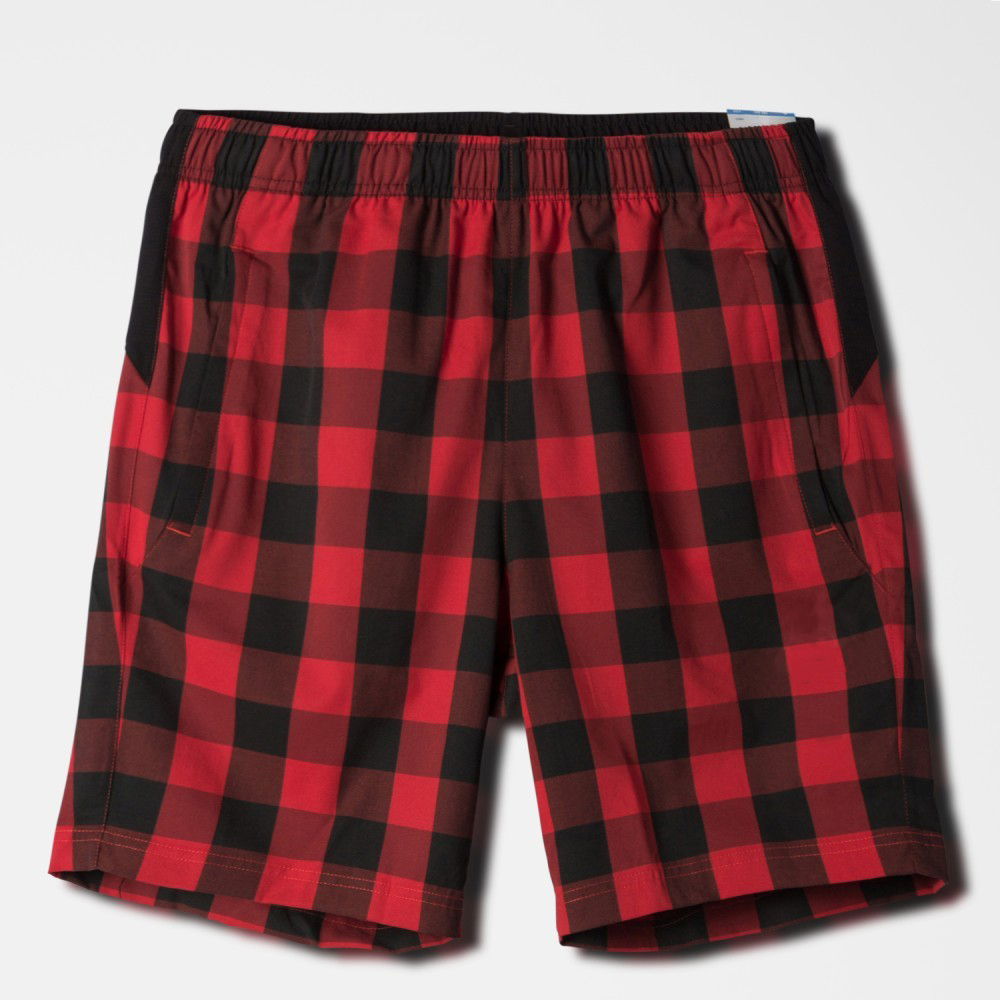 tartan design wholesale running shorts microfiber softball shorts for men