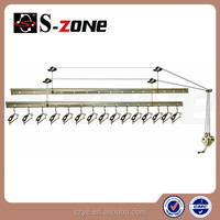 SZ12-04 shop style clothes hanger rack for ceiling or wall mounted