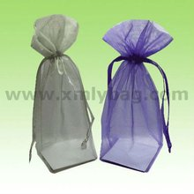 Promotional Beauty Drawstring Square Bottom Round Perfume Organza Fabric Bag
