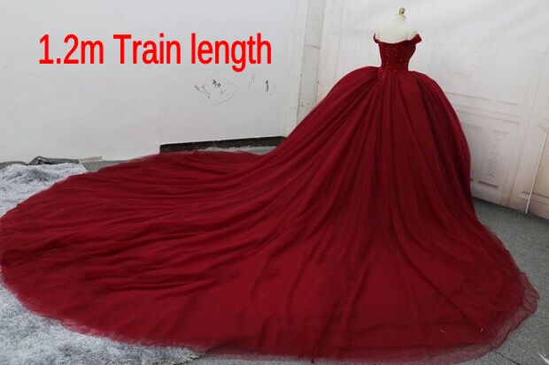 2017 Classic Noble Charming Luxury Crystal Off Shoulder Evening Gown Customized Tulle Ball Gown Red Gown Wedding Dress ASAD004